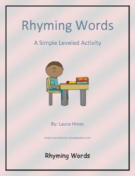 Rhyming words leveled worksheet
