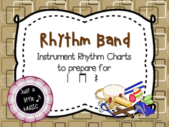 Rhythm Band--Instrument Rhythm Charts preparing for ta, ti