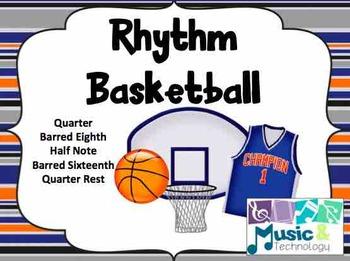 Rhythm Basketball (Barred Sixteenth Notes)- SMART Board