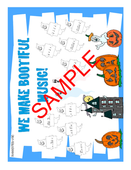 Preview of Halloween Music Bulletin Board Kit