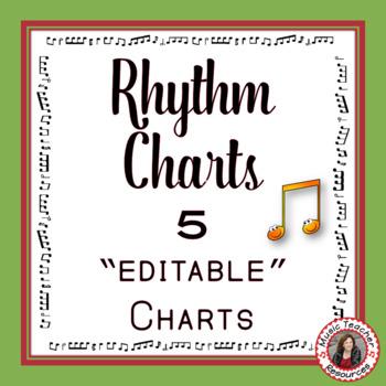 Rhythm Chart Set: North American Terminology