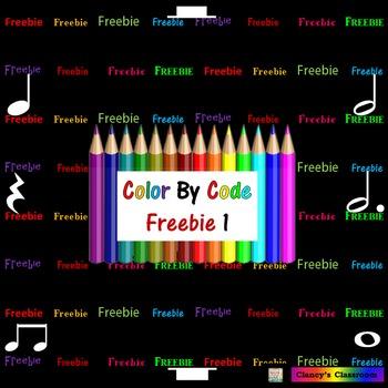 Rhythm: Color By Code: FREEBIE 1