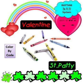 Rhythm: Color By Code: Valentine's & St. Patty's Day: Ta t