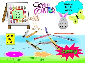 Rhythm:Create Your Own Color By Code: Easter & Spring Ta T