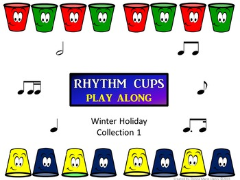 Rhythm Cups Play Along Winter Holiday Collection 1