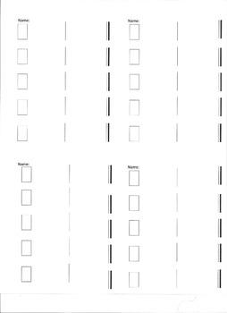 Rhythm Dictation Work Sheet