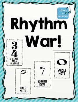 Rhythm Duration WAR Card Game