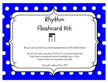 Rhythm Flashcard Kit: Tika- ti (Two Sixteenth and one Eigh