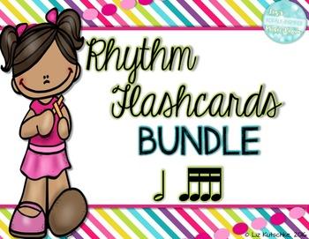 Rhythm Flashcards Bundle: Half Note and Sixteenth Notes