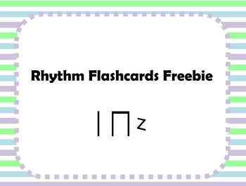 Rhythm Flashcards - Quarter notes, paired eighths, and qua