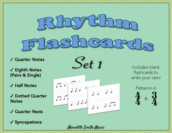 Rhythm Flashcards - Set 1