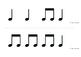 Rhythm Flashcards ta ti-ti (quarter note / 2 eighth notes)