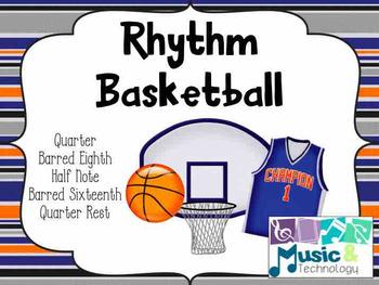 Rhythm Basketball (Barred Sixteenth Notes)- (PowerPoint/Keynote)