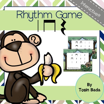 Rhythm Game: Find the Monkey {Quarter Note, Quarter Rest,