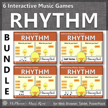 Rhythm Games Dancing Chick Interactive Music Games {Bundle}