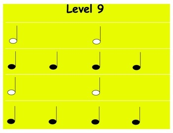 Rhythm Levels: 2nd Grade