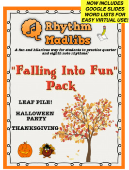 "Rhythm Madlib ""Falling Into Fun"" Fall, Halloween, Thanksgi"