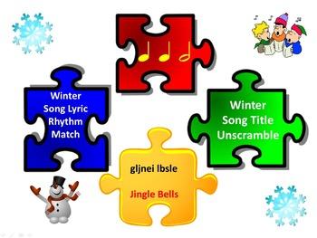 Rhythm Match: Winter Song Lyrics & Unscramble: Winter Song