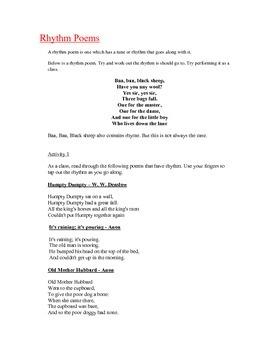 Rhythm Poetry