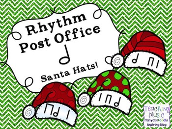 Rhythm Post Office Santa Hats Half Note