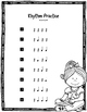 Rhythm Practice: Level One {Quarter Note & Quarter Rest}