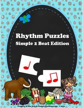 Rhythm Puzzles:  Creating Simple 2 Beat Patterns Using Ta,