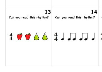 Rhythm Reading Game: Quarter Notes and Eighth Notes