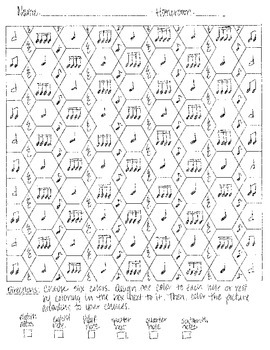 Rhythm Review Coloring Sheet
