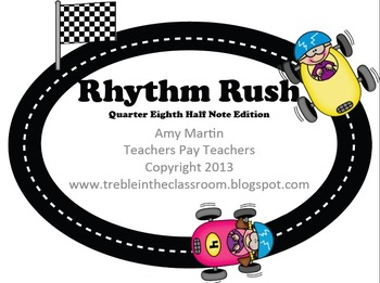 Rhythm Rush Relay Rhythm Identification Game: Half, Quarte