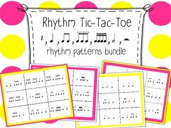 Rhythm Tic-Tac-Toe Bundle