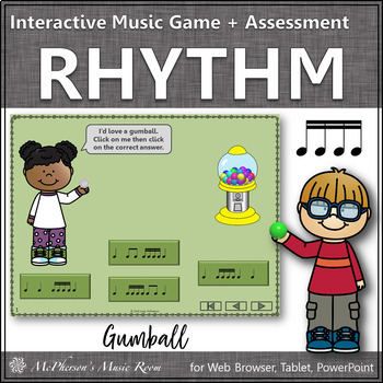 Rhythm Time with Sixteenth Notes Interactive Music Game +