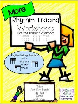Rhythm Tracing Worksheets: Tika Tika, Ti Tika, and Tika Ti
