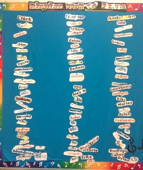 Rhythm Wall of Fame Bulletin Board Title