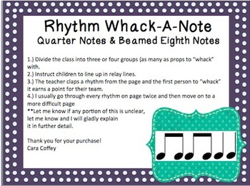 Rhythm Whack-A-Note: Quarter Notes and Beamed Eighth Notes