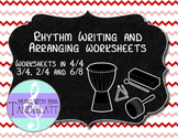Rhythm Writing and Arranging Worksheets