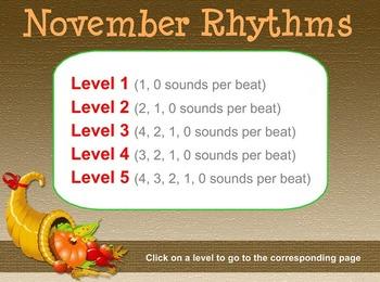 Rhythm of the Month - November Icons