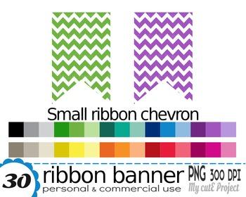 Ribbon Banner Chevron | Clipart | 30 png files | Scrapbook
