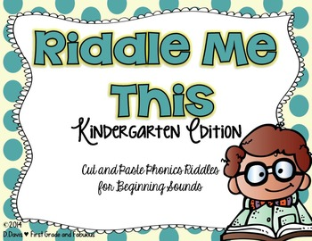 Riddle Me This-Kindergarten Edition