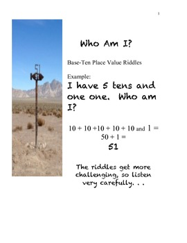 Riddles for Multi-digit Whole Number Place Value Development