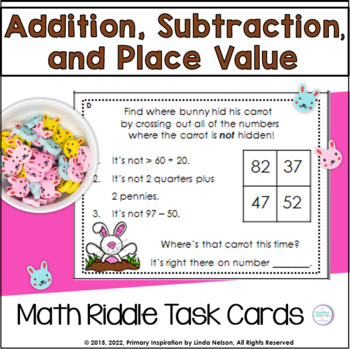 Riddles for Two-Digit Numbers ~ Bunny's Hidden Carrots