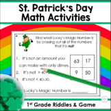 St. Patrick's Day Riddles for Two-Digit Numbers ~ Lucky's