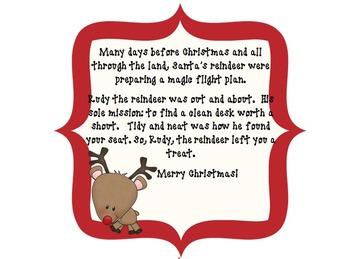 Rudy, the Reindeer Desk Fairy by The 2 Teaching Divas