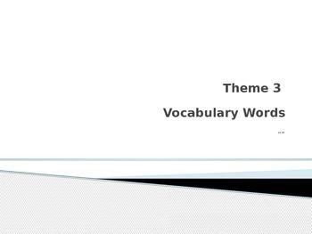 Rigby vocabulary THeme 3