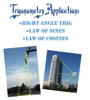 Right-Angle Trigonometry, Law of Sines, Law of Cosines App