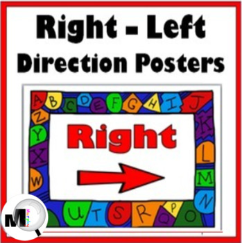 Right – Left Direction Posters / Signs {Alphabet Border}
