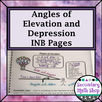 Right Triangle - Angles of Elevation & Depression Interact