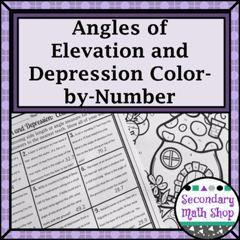 Right  Triangles - Angles of Elevation & Depression Color-