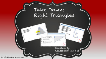 Right Triangles Review ~ Take Down Game