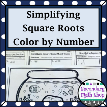 Right Triangles - Simplifying Square Roots (Radicals) Colo
