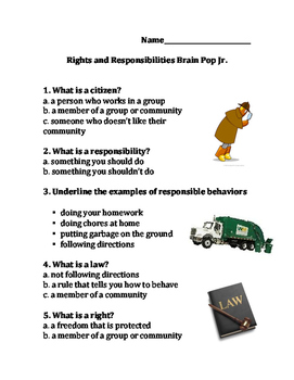 Rights and Responsibilities Brain Pop Junior- Higher Level